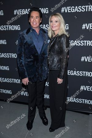 Stock Picture of Wayne Newton, Kathleen McCrone. Wayne Newton and wife Kathleen McCrone arrive at the Vegas Strong Benefit concert at the T-Mobile Arena, in Las Vegas