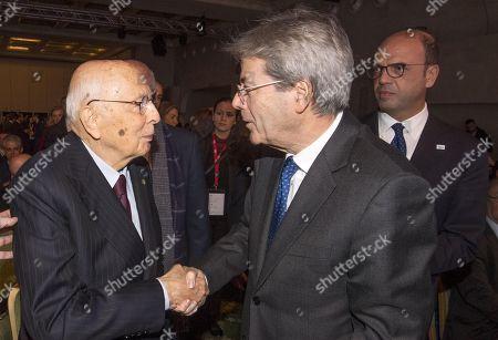 Paolo Gentiloni, Giorgio Napolitano and Angelino Alfano