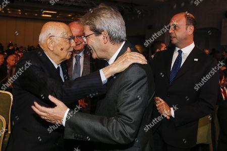 Paolo Gentiloni and Giorgio Napolitano