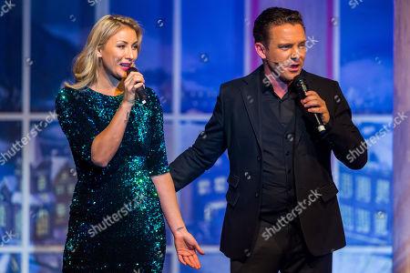 Anna-Carina Woitschack (L) and Stefan Mross