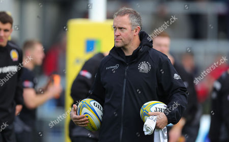 Exeter Chiefs Assistant Coach, Robin Hunter during the Aviva Premiership match between Exeter Chiefs and Bath at Sandy Park on December 2nd 2017 , Exeter, Devon (