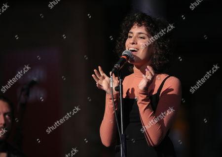 Editorial image of Sonia Stein in concert, National Waterfront Museum, Swansea, Wales, UK - 23 Nov 2017