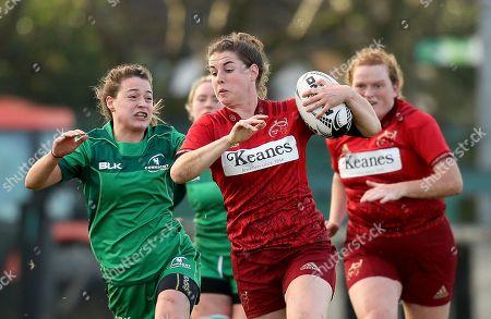 Connacht Women vs Munster Women. Munster?s Rachel Allen with Shannen Lane of Connacht