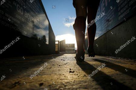 Connacht Women vs Munster Women. Munster?s Rachel Allen walks onto the pitch