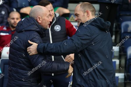 QPR Manager Ian Holloway and Preston North End manager Alex Neill