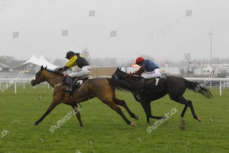 Elegant Escape and Harry Cobden win the Ladbrokes John Francome Novices' Chase at Newbury.