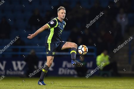 Carlisle United defender Clint Hill (29) during the The FA Cup match between Gillingham and Carlisle United at the MEMS Priestfield Stadium, Gillingham