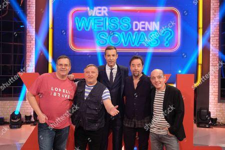 Elton, Axel Prahl, Kai Pflaume, Jan Josef Liefers, Bernhard Hoecker