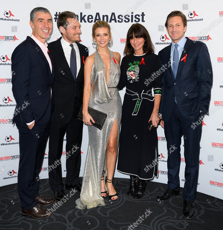 Tommy Clark, CEO and Co Founder GRS, Seb Bishop, Rachel Riley, Davina McCall and Gregg Lemkau