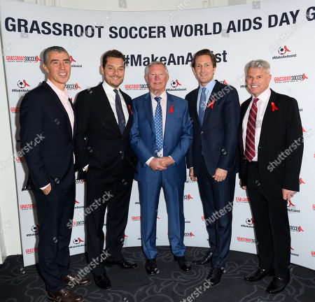 Stock Image of Tommy Clark, CEO and Co Founder GRS, Seb Bishop, Sir Alex Ferguson CBE, Gregg Lemkau and Guest.