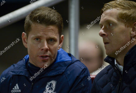 Gary Monk manager of Middlesbrough with first team coach James  Beattie