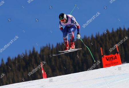 United States' Wiley Maple makes a run during a men's World Cup downhill ski race, in Beaver Creek, Colo