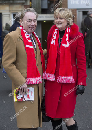 Sir Andrew and Madeleine Gurdon wearing their Ladbrokes Scarfs