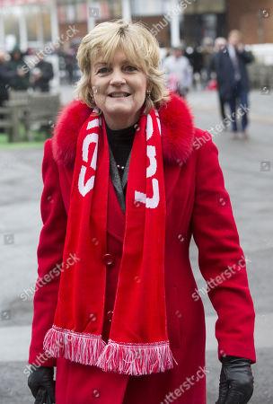 Madeleine Gurdon wearing a Ladbrokes scarf.