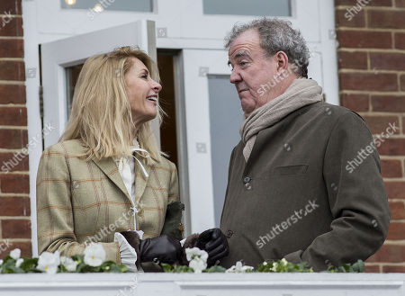 Jeremy Clarkson and his girlfriend Lisa Hogan at the Ladbrokes Winter Carnival at Newbury.