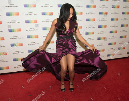 Shelea Frazer. Singer Shelea Frazier arrives at the State Department for the Kennedy Center Honors gala dinner, in Washington