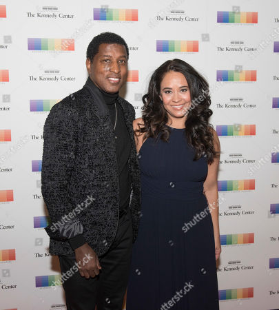 """Kenneth """"Babyface"""" Edmonds, Nicole Edmonds. Kenneth """"Babyface"""" Edmonds and Nicole Edmonds arrive at the State Department for the Kennedy Center Honors gala dinner, in Washington"""