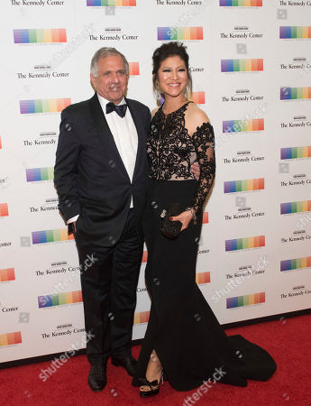 Les Moonves, Julie Chen. Les Moonves and Julie Chen arrive at the State Department for the Kennedy Center Honors gala dinner, in Washington