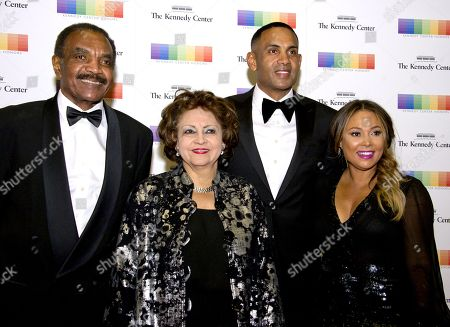 Calvin Hill, Janet Hill, Grant Hill and Tamia Hill