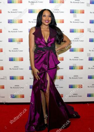 US singer Shelea Frazier arrives for the formal Artist's Dinner honoring the recipients of the 40th Annual Kennedy Center Honors hosted by United States Secretary of State Rex Tillerson at the US Department of State in Washington, D.C., 02 December 2017 (issued 03 December 2017). The 2017 honorees are: US dancer and choreographer Carmen de Lavallade, Cuban-US singer-songwriter and actress Gloria Estefan, US hip hop artist and entertainment icon LL COOL J, US television writer and producer Norman Lear and US musician and record producer Lionel Richie.