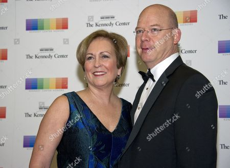 Trombonist Peter Ellefson and guest arrive for the formal Artist's Dinner honoring the recipients of the 40th Annual Kennedy Center Honors hosted by United States Secretary of State Rex Tillerson at the US Department of State in Washington, D.C., 02 December 2017 (issued 03 December 2017). The 2017 honorees are: US dancer and choreographer Carmen de Lavallade, Cuban-US singer-songwriter and actress Gloria Estefan, US hip hop artist and entertainment icon LL COOL J, US television writer and producer Norman Lear and US musician and record producer Lionel Richie.