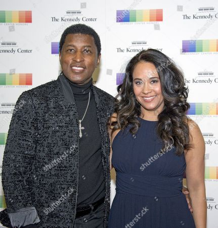 Singer Kenneth 'Babyface' Edmonds and Nicole Edmonds arrive for the formal Artist's Dinner honoring the recipients of the 40th Annual Kennedy Center Honors hosted by United States Secretary of State Rex Tillerson at the US Department of State in Washington, D.C., 02 December 2017 (issued 03 December 2017). The 2017 honorees are: US dancer and choreographer Carmen de Lavallade, Cuban-US singer-songwriter and actress Gloria Estefan, US hip hop artist and entertainment icon LL COOL J, US television writer and producer Norman Lear and US musician and record producer Lionel Richie.