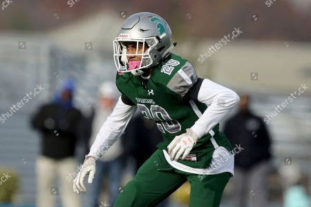 DePaul's Ian Brown (20) in action against St. Joseph (Mont.) during the Non-public, Group 3 high school final state championship football game, in Union, NJ. DePaul won 7-3