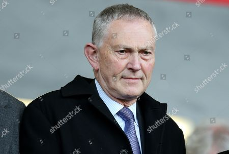 Richard Scudamore Chief Executive of the Premier League is seen in the stands.