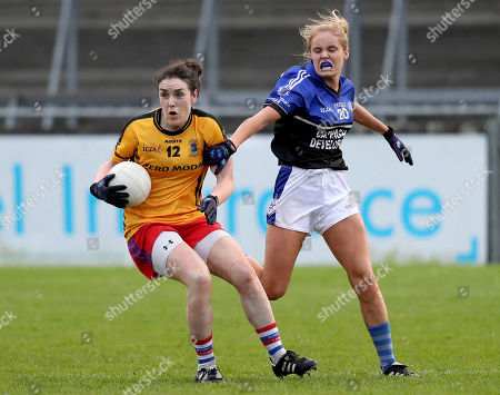 Dunboyne vs Kinsale. Dunboyne's Sinead Hackett with Georgia Gould of Kinsale