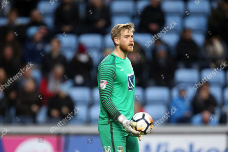 Lee Burge of Coventry City during Coventry City vs Boreham Wood, Emirates FA Cup Football at the Ricoh Arena on 3rd December 2017