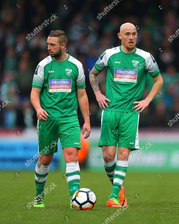 Sammy Moore of Leatherhead and  Sean Clohessy of Leatherhead