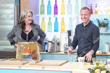 Kerry Fox and Tim Lovejoy