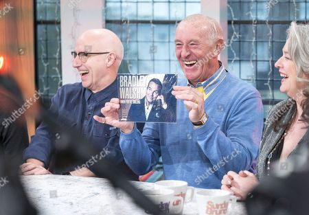 Midge Ure, Len Goodman and Kerry Fox
