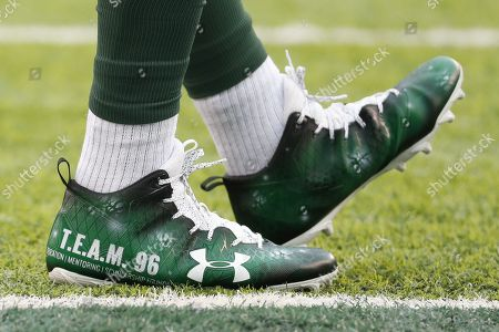 , 2017, New York Jets defensive end Muhammad Wilkerson (96) wears a pair of special cleats for ''My Cause, My Cleats'' honoring TEAM 96 Foundation during the NFL game between the Kansas City Chiefs and the New York Jets at MetLife Stadium in East Rutherford, New Jersey. The New York Jets won 38-31