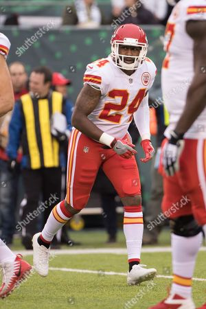 , 2017, Kansas City Chiefs cornerback Darrelle Revis (24) in action during the NFL game between the Kansas City Chiefs and the New York Jets at MetLife Stadium in East Rutherford, New Jersey. The New York Jets won 38-31