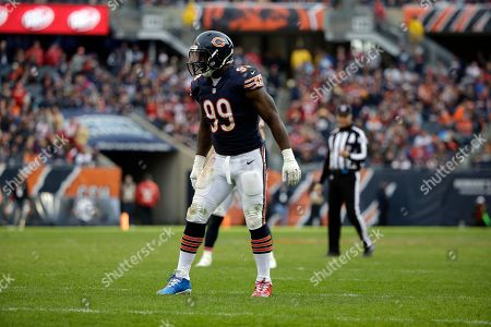 Chicago Bears linebacker Lamarr Houston (99) during the second half of an NFL football game against the San Francisco 49ers, in Chicago