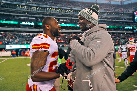 Darrelle Revis, Todd Bowles. Kansas City Chiefs' Darrelle Revis, left, greets New York Jets coach Todd Bowles after an NFL football game, in East Rutherford, N.J. The Jets won 38-31