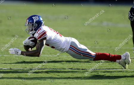 New York Giants wide receiver Tavarres King (12) against the Oakland Raiders during an NFL football game in Oakland, Calif
