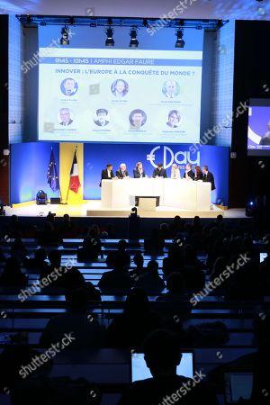 Stock Picture of David Monteau, Dominique Calmels, David Layani, Gaspard Koenig, Stephanie Von Euw, Octave Klaba, Valerie Hoffenberg