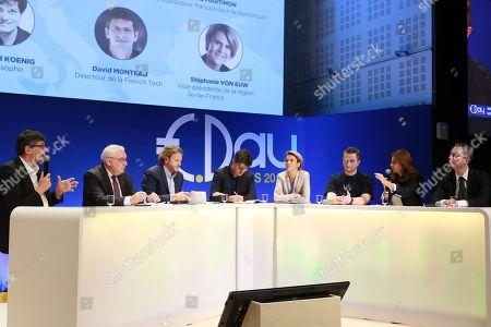 Stock Photo of David Monteau, Dominique Calmels, David Layani, Gaspard Koenig, Stephanie Von Euw, Octave Klaba, Valerie Hoffenberg