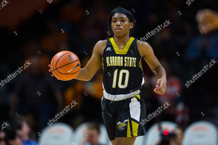 Courtney Lee #10 of the Alabama State Lady Hornets brings the ball up court during the NCAA basketball game between the University of Tennessee Lady Volunteers and the Alabama State University Lady Hornets at Thompson Boling Arena in Knoxville TN Tim Gangloff/CSM