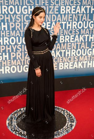 Ouyang Nana arrives at the 6th annual Breakthrough Prize Ceremony at the NASA Ames Research Center on in Mountain View, California