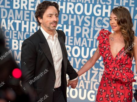 Sergey Brin, Nicole Shanahan, Google. Google co-founder Sergey Brin and Nicole Shanahan arrive at the 6th annual Breakthrough Prize Ceremony at the NASA Ames Research Center on in Mountain View, California