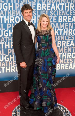Marissa Mayer, Yahoo!, Zachary Bogue. Marissa Mayer, president and CEO of Yahoo! and Zachary Bogue arrive at the 6th annual Breakthrough Prize Ceremony at the NASA Ames Research Center on in Mountain View, California