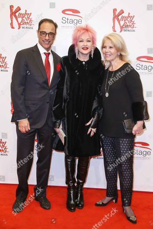 Stock Image of Hal Luftig, Cyndi Lauper and Daryl Roth