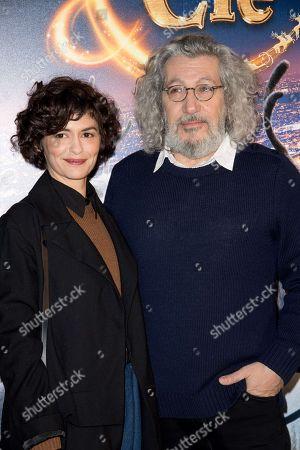 Audrey Tautou and Alain Chabat