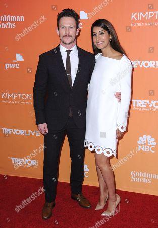 Stock Photo of Jonathan Tucker and Tara Ahamed Tucker