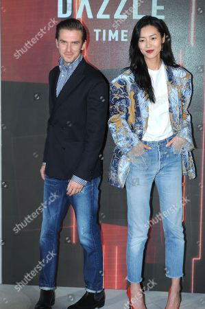 Stock Image of Dan Stevens and Liu Wen