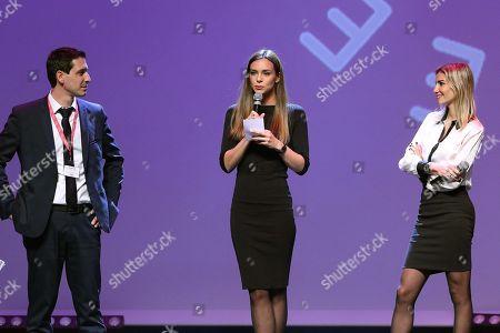Arnaud Ellul (CEO at CAP 34) , Marine Lorphelin and Alexandra Rosenfeld
