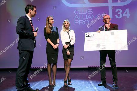 Arnaud Ellul (CEO at CAP 34) , Marine Lorphelin, Alexandra Rosenfeld and Pierre Lemarchal